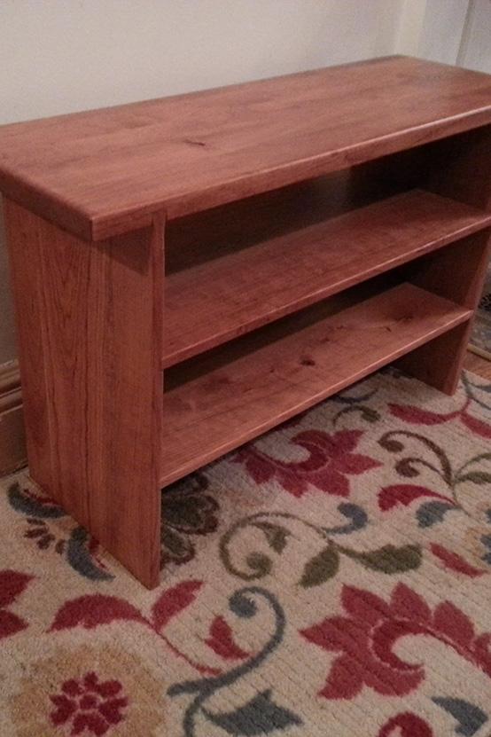 Bespoek Cherry Wood Bench by Josh Randall at RandallsWoodWorks.com