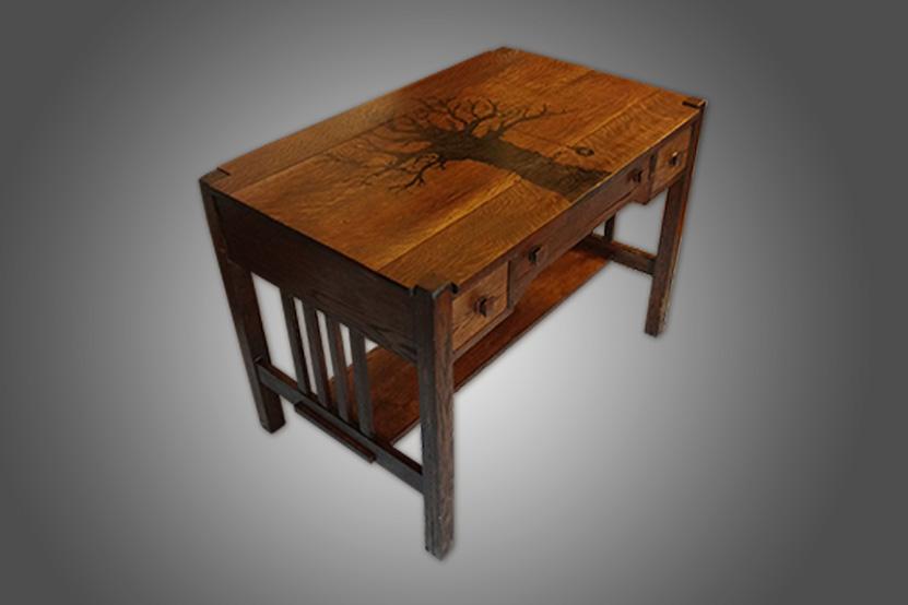 Custom Refinished Desk by Josh Randall of RandallsWoodWorks
