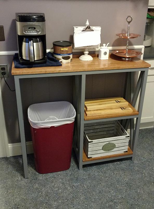 Custom Built Coffee Bar in Customer Home