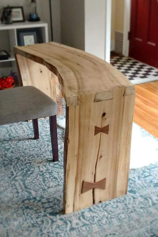 Live Edge Slab Desk by Josh Randall of RandallsWoodWorks.com
