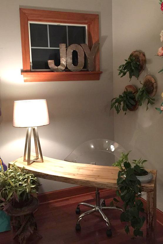 Live Edge Slab Desk in Customer's Home