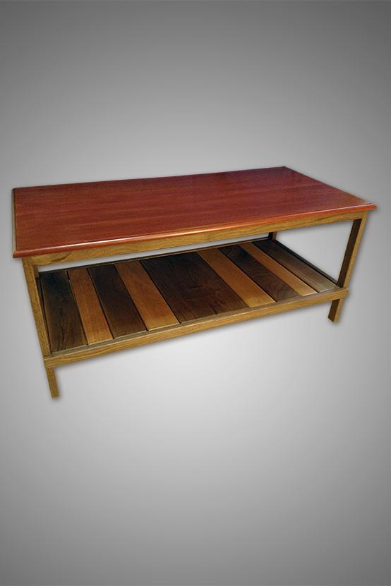 Mahogany & Walnut Coffee Table