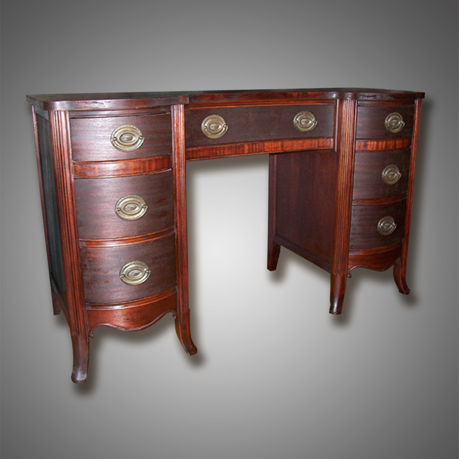 Refinished Mahogany Desk by Josh Randall of RandallsWoodWorks.com