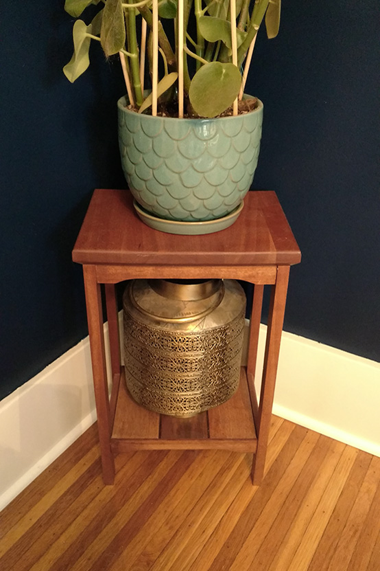 Cherry and Walnut Stand In Home