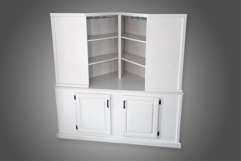 Corner Cabinet by Josh randall of RandallsWoodWorks.com