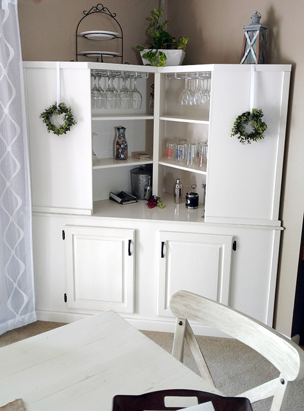 Custom Built Corner Cabinet by Josh Randall of RandallsWoodWorks.com
